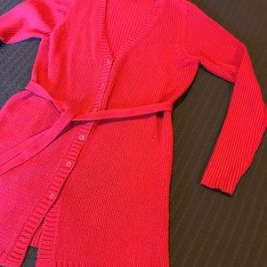 MixIt Red Long Knit Sweater